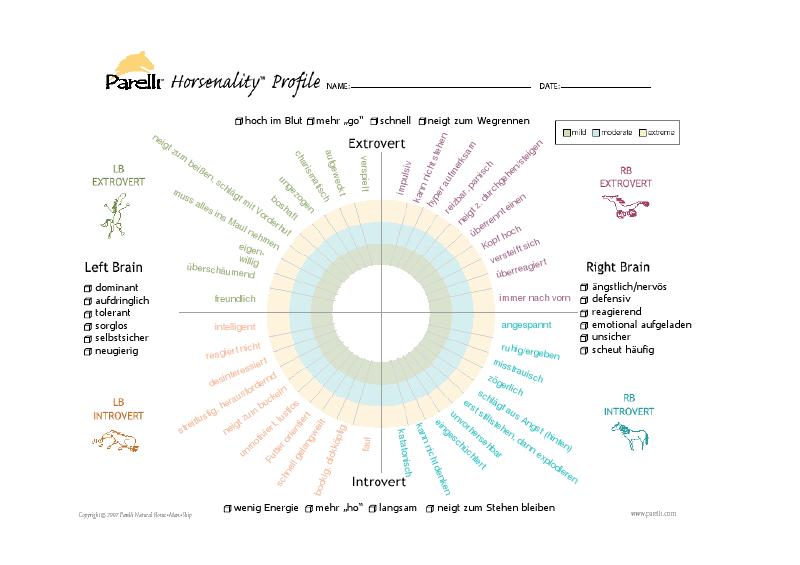 horsenality chart
